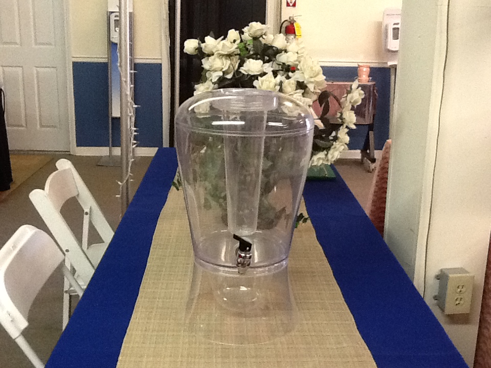 3 GAL CLEAR ACRYLIC BEVERAGE SERVER