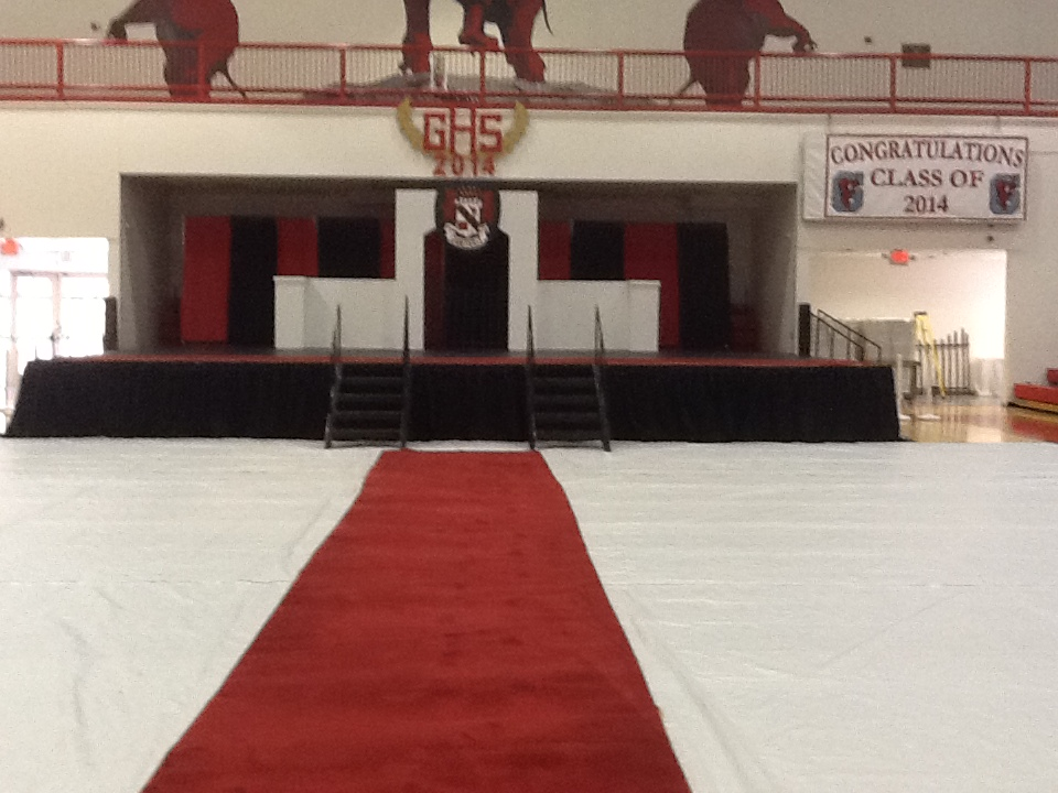 RED CARPET FOR A HIGH SCHOOL GRADUATION