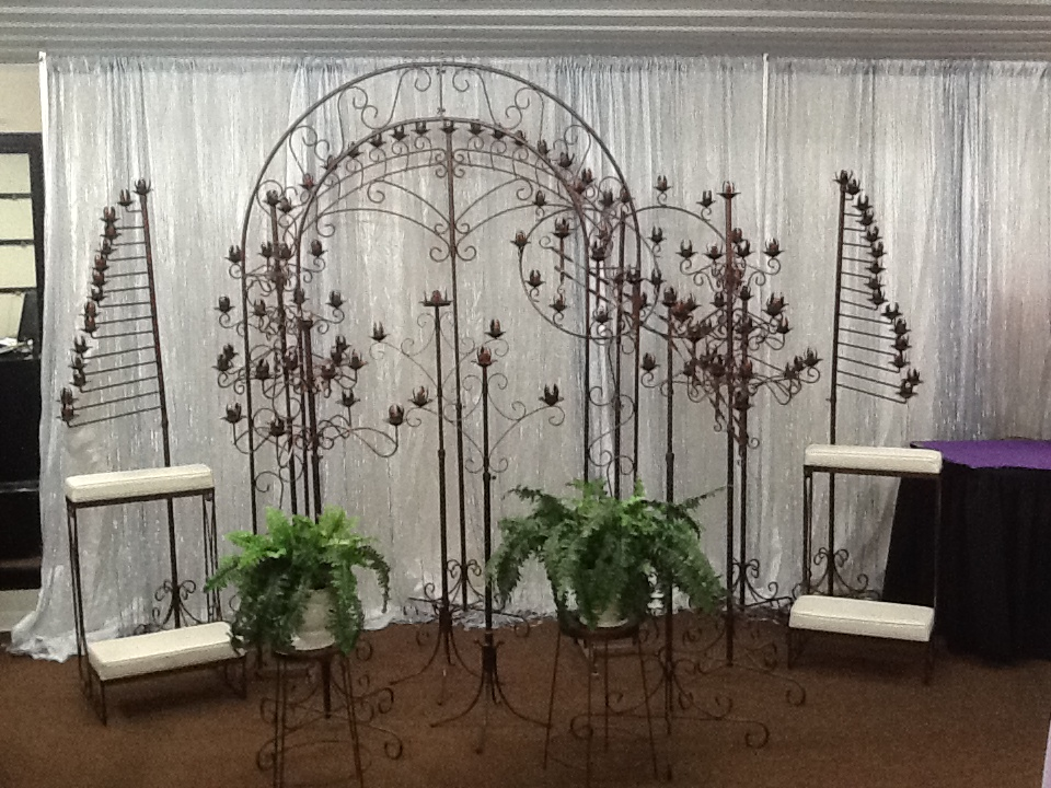 All Copper Vein Candelabras and Arches Available